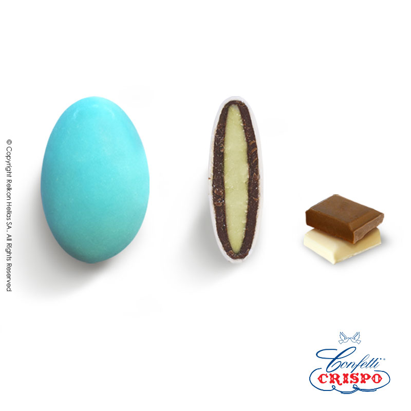 Κουφέτο CiocoPassion Γαλάζιο  Διπλή σοκολάτα (πυρήνας λευκής με επικάλυψη γάλακτος)  Τεμ./kg:190 - 210  Τύπος:Ματ  Συσκευασία:1kg  Συντήρηση