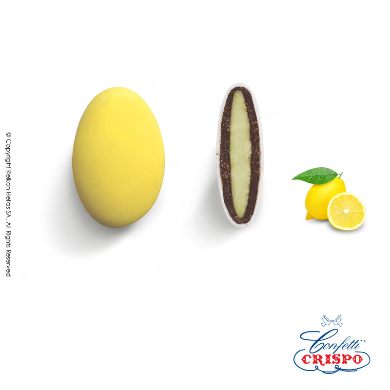 Κουφέτο CiocoPassion Λεμόνι Κίτρινο  Διπλή σοκολάτα (πυρήνας λευκής με επικάλυψη γάλακτος),  γεύση λεμόνι και λεπτή επίστρωση ζάχαρης, σε κίτρινο χρώμα.  Τεμ./kg:190 - 210  Τύπος:Γυαλιστερό  Συσκευασία:1kg  Συντήρηση