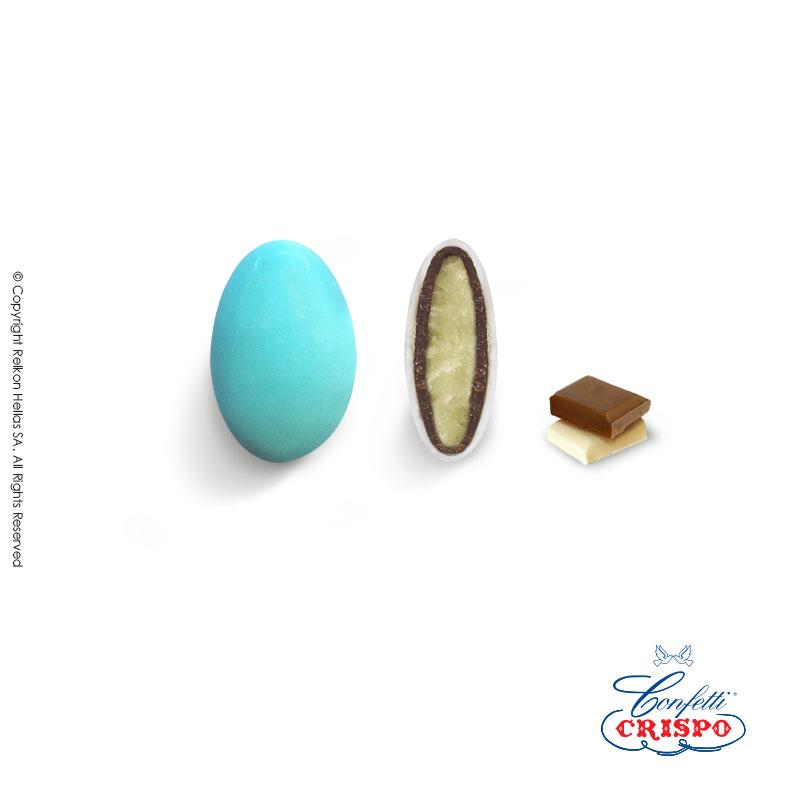 Κουφέτο CiocoPassion Mini σε γαλάζιο χρώμα, ροζ και λευκό. (κάθε χρώμα σε ξεχωριστή συσκευασία)  Διπλή σοκολάτα (πυρήνας λευκής με επικάλυψη γάλακτος)  και λεπτή επίστρωση ζάχαρης.  Τεμ./kg:450 - 480  Τύπος:Ματ  Συσκευασία:1kg  Συντήρηση