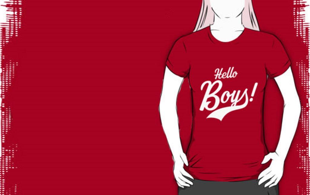 Bachelor party t-shirt Hello Boys