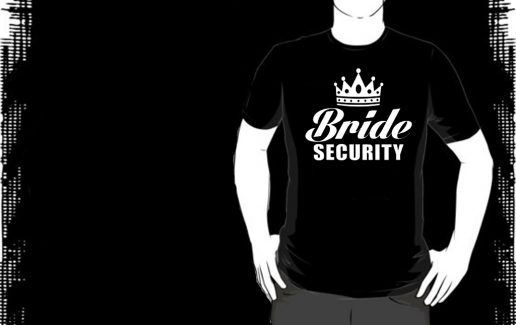 Bachelor Party T-shirt Bride Security