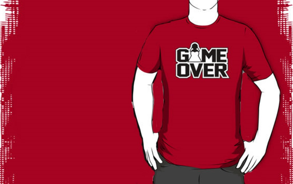 Bachelor Party T-shirt - Game over