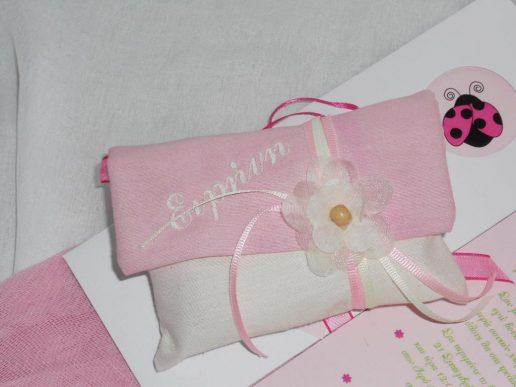 mpomponiera vaptisis roz-leuko pougi