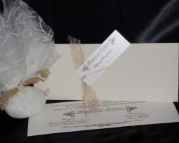 Προσκλητήριο Γάμου Υβουάρ Φάκελος Ακουαρέλας