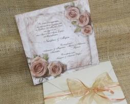 Προσκλητήριο Γάμου Roses