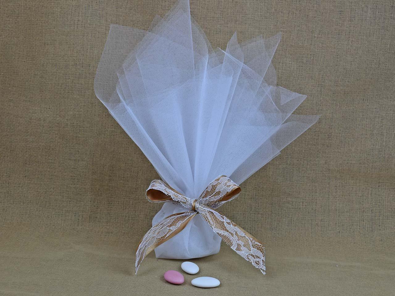 1762456a261 Μπομπονιέρα Γάμου Γαλλικό Τούλι