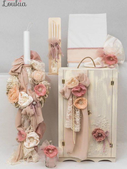 set vaptisis gia koritsi floral-lou033