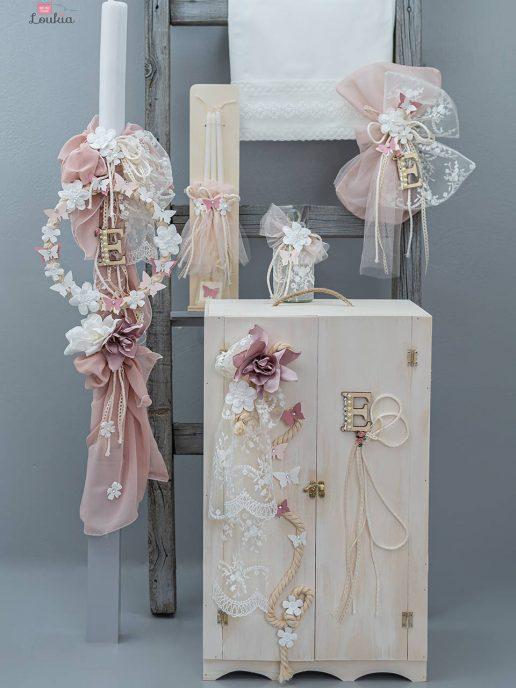 set vaptisis gia koritsi petaloudes-floral-loul8147