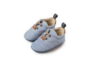 Babywalker Παπούτσι Αγκαλιάς Δέρμα & Ύφασμα Royal Blue